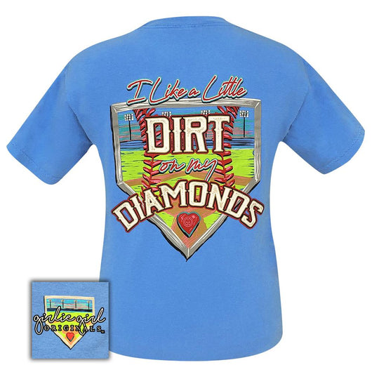 Dirt On My Diamonds Royal Caribe Comfort Color 2064 Short Sleeve