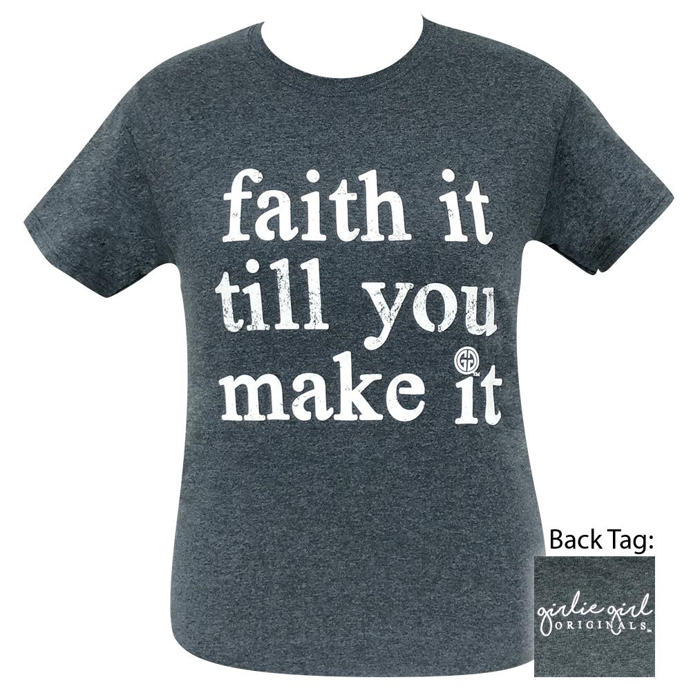 Faith it Dark Heather 2069 Short Sleeve