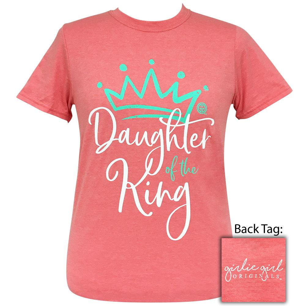 Daughter Of The King Heather Coral Silk-2091 Short Sleeve