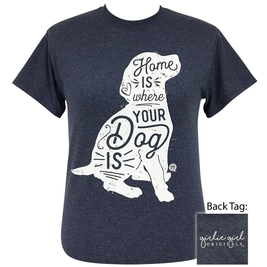 Where Your Dog Is Heather Navy-2121 Short Sleeve