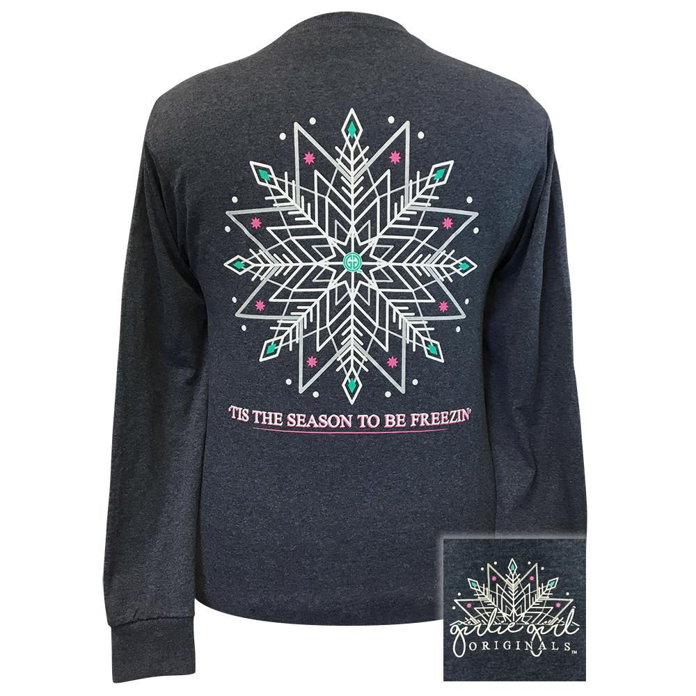 Freezin' Season Vintage Heather Navy Long Sleeve