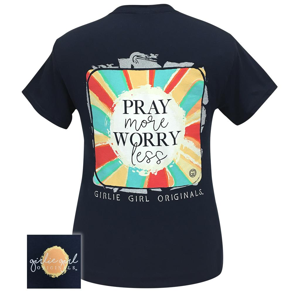 Sunburst Pray More Navy-2165 Short Sleeve