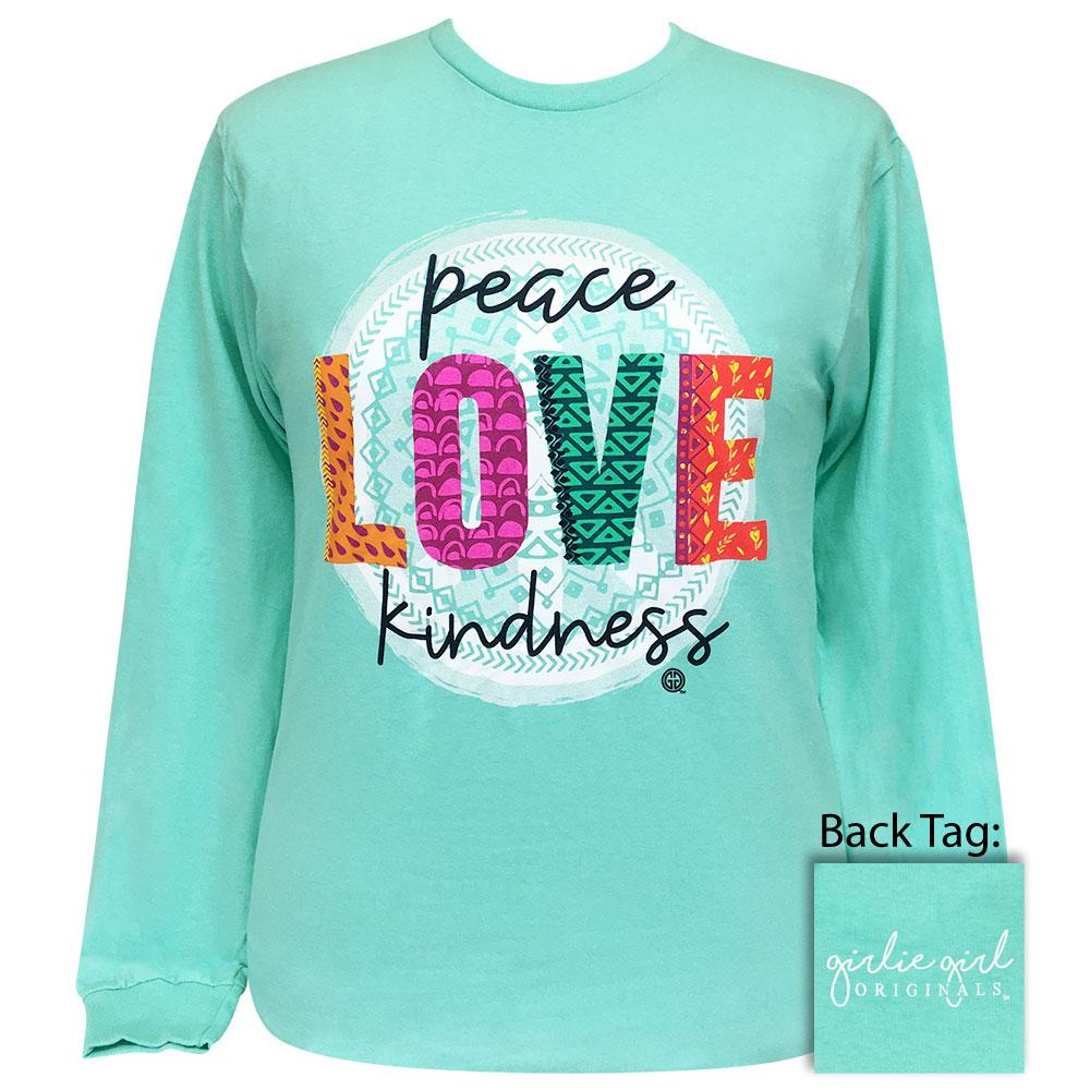 Peace Love Kindness Celadon Longsleeve