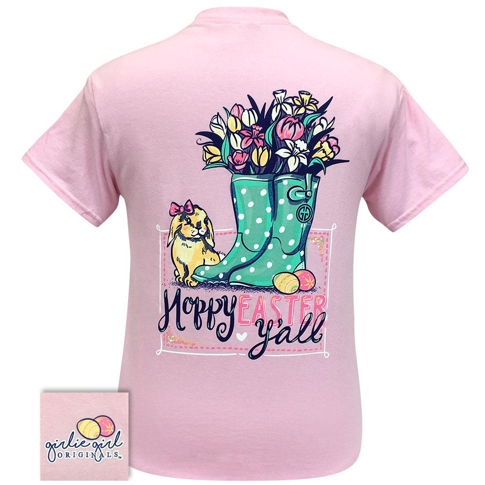 Hoppy Easter Light Pink 2277 Short Sleeve Shirt