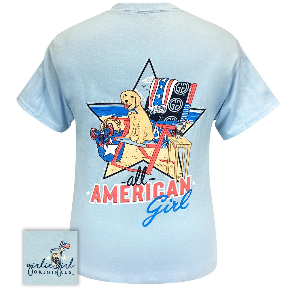 American Girl Light Blue 2280 Short Sleeve Tee