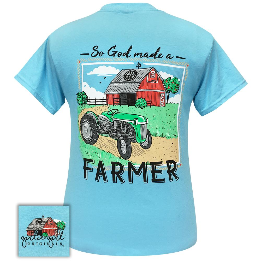 Farmer Sky Blue 2281 Short Sleeve Shirt