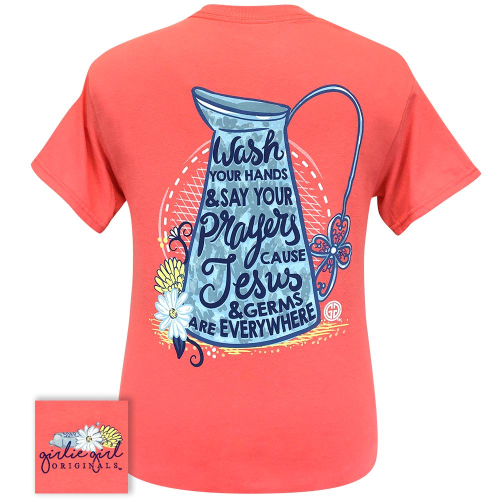 Wash Your Hands Coral Silk 2289 Short Sleeve