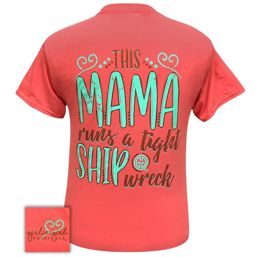 Tight Ship Wreck Coral Silk 2294 Short Sleeve