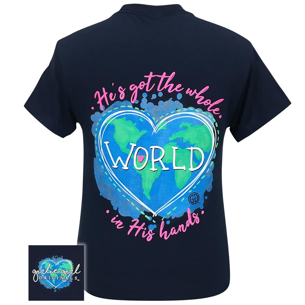World In His Hands 2295 Navy Short Sleeve Tee