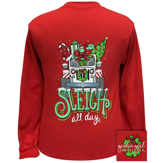 Sleigh All Day Red Long Sleeve 2329