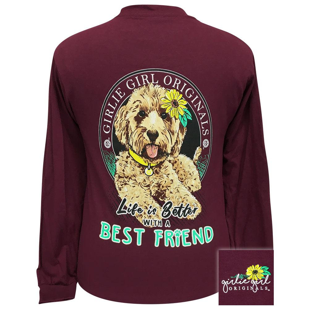 Best Friend Maroon Long Sleeve - 2346