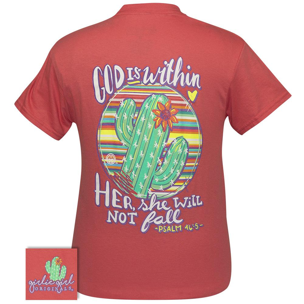 God Is Within Coral Silk SS-2361