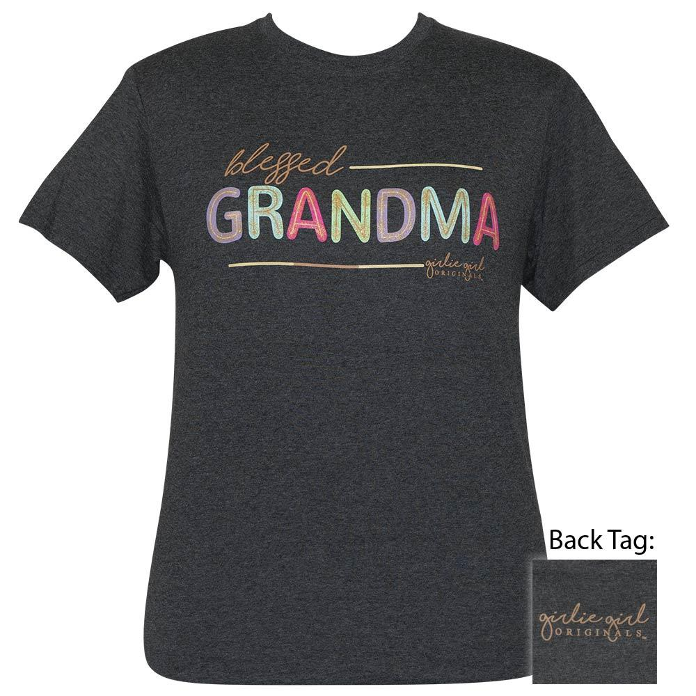 Blessed Grandma Glitter - Black Heather-2421