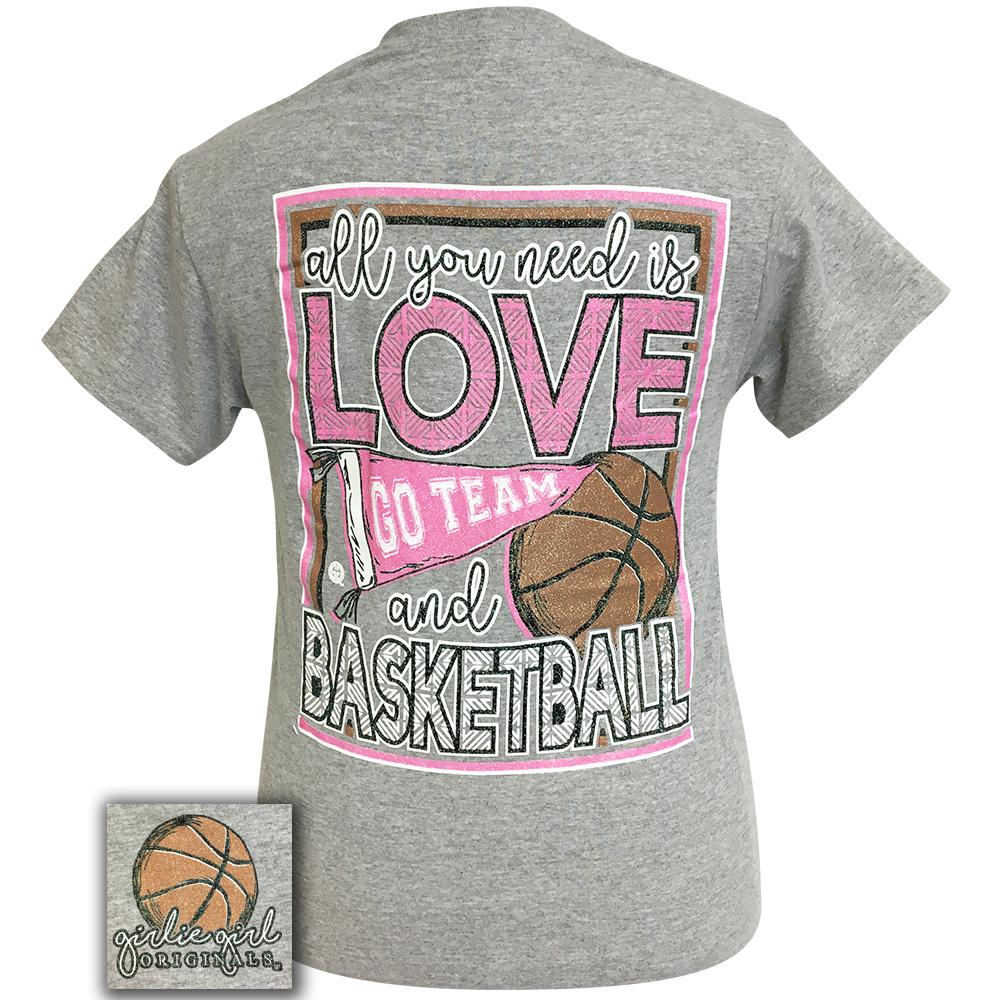 All You Need Basketball Sport Grey Short Sleeve Tee