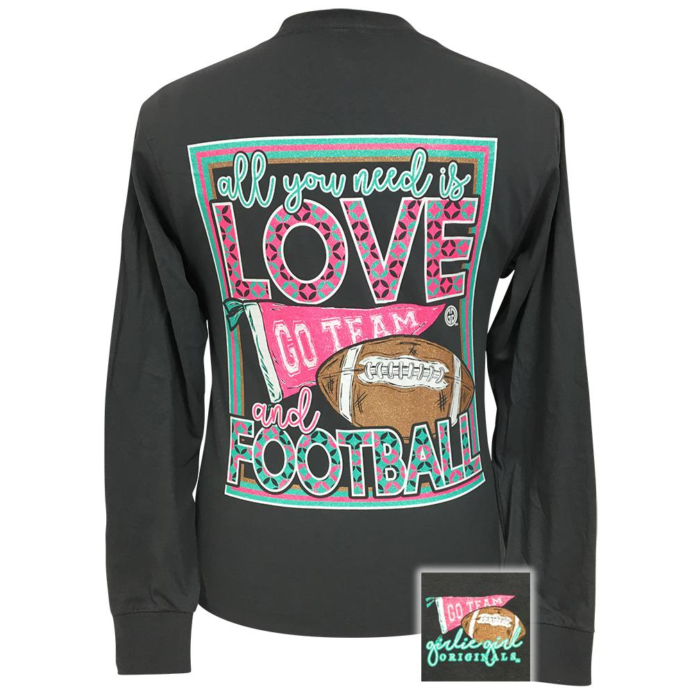 All You Need Football Charcoal Grey Long Sleeve