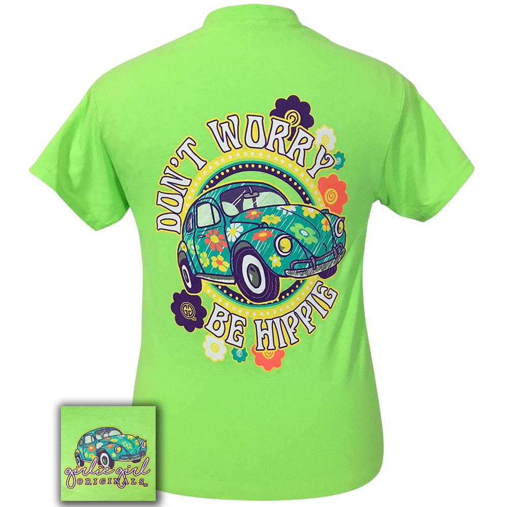 Be Hippie Neon Green Short Sleeve Tee