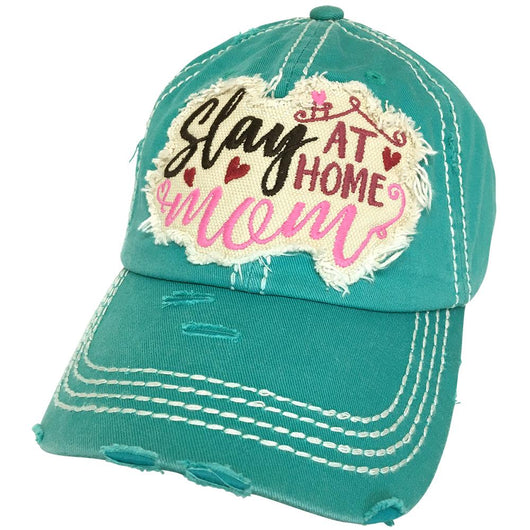 KBV-1255 Slay At Home Mom Cap Turqoise