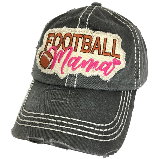 KBV-1256 Football Mama Cap Black