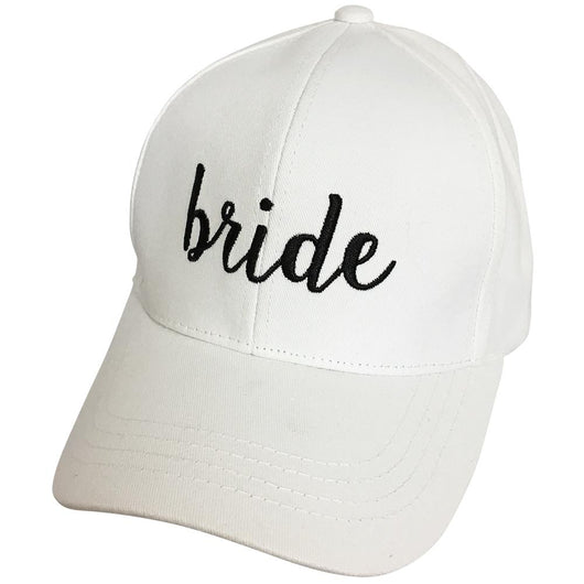 BA-2017 C.C Baseball Cap-Bride White with Black