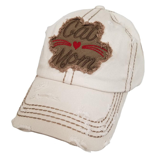KBV-1143 Cat Mom Hat Stone