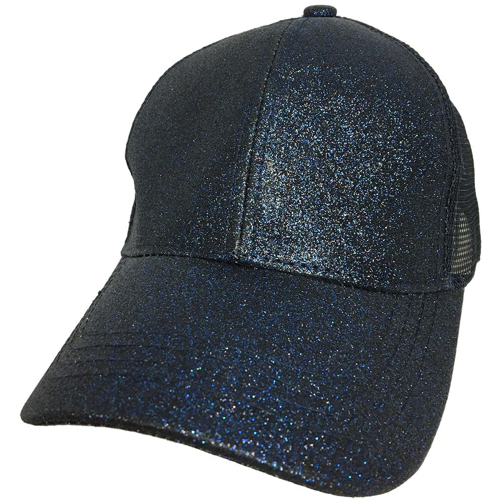 BT-6 C.C Beanie Pony Caps Navy Metallic