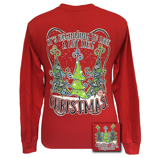 It's Beginning to Look a lot like Christmas Long Sleeve Red