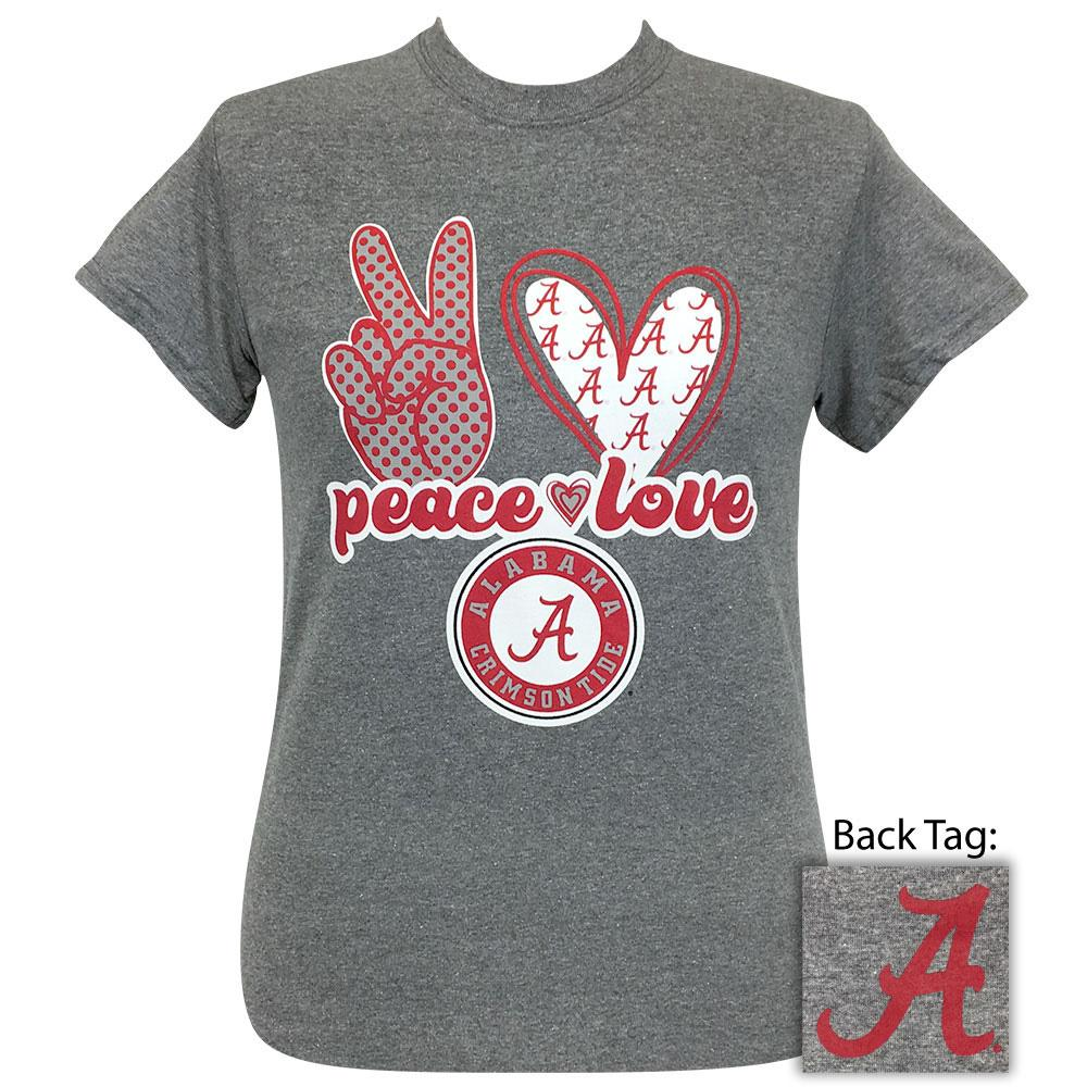 Peace Love Alabama Graphite Heather Short Sleeve