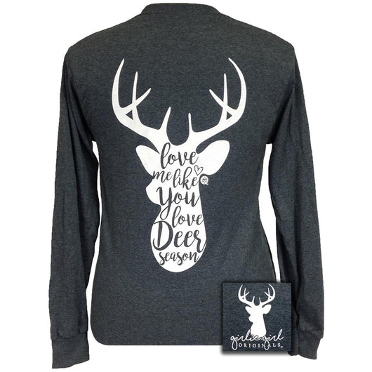 Deer Season Dark Heather Long Sleeve