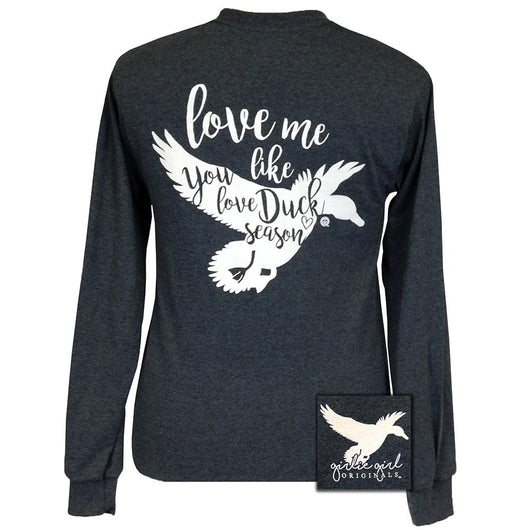 Duck Season Dark Heather Grey Long Sleeve