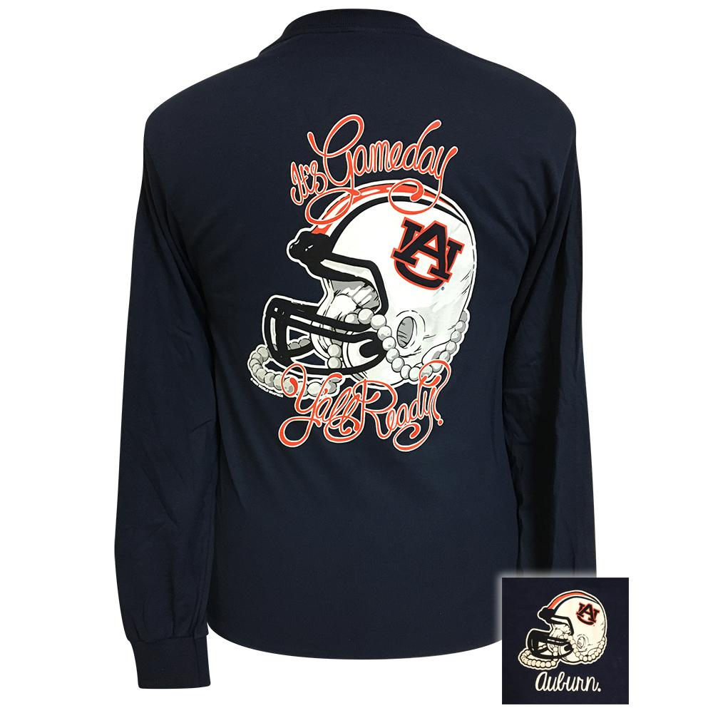 Gameday Auburn Navy Blue Long Sleeve
