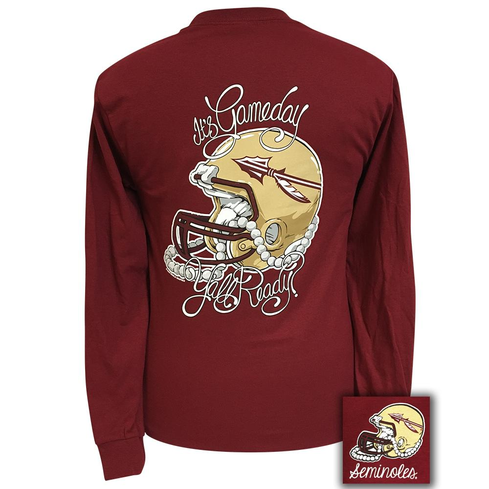 Back of Tailgates and Touchdowns FSU Long Sleeve Garnet Shirt - Available Now | Girlie Girl Originals