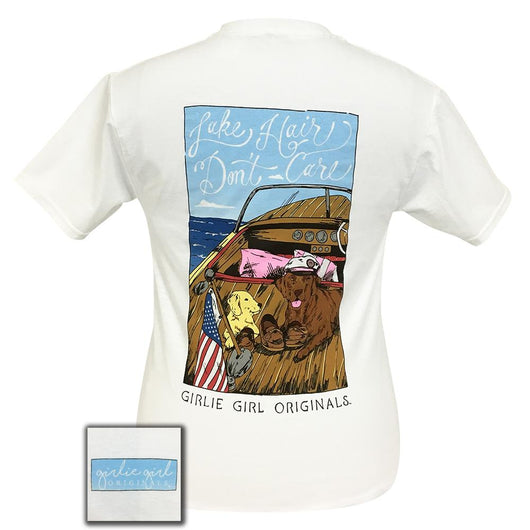 Lake Hair-Dogs White Short Sleeve