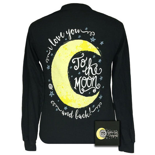 Moon and Back Black Long Sleeve