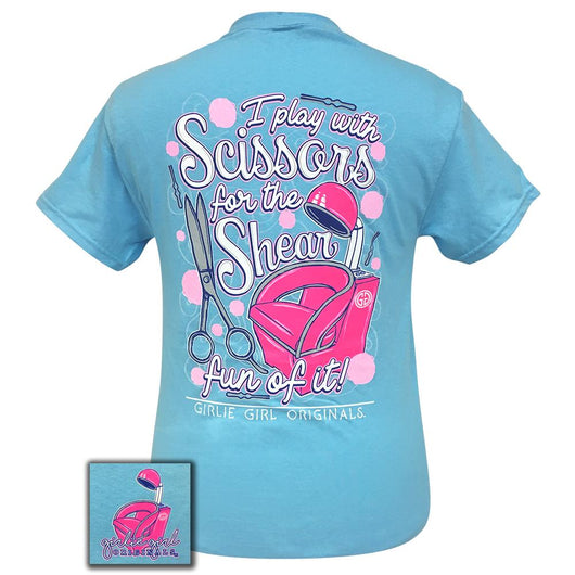 Scissors Sky Blue Short Sleeve