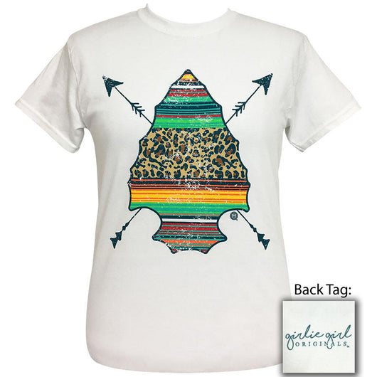 Serape Arrowhead White Short Sleeve T-Shirt