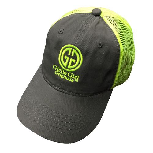 CAPS - GGO LOGO - GREY/NEON YELLOW MESHBACK