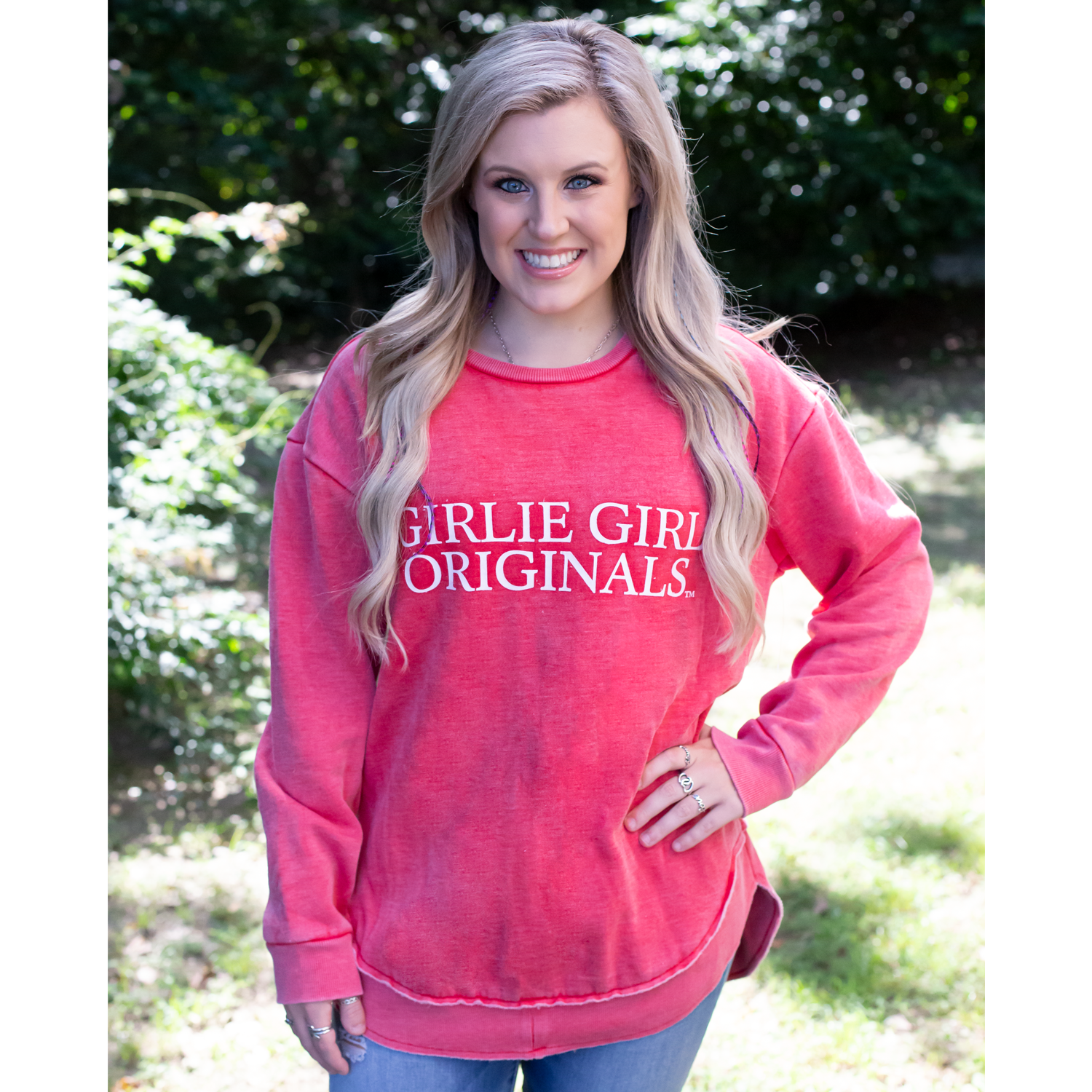Girlie Girl Originals Logo Sweatshirt Heather Red