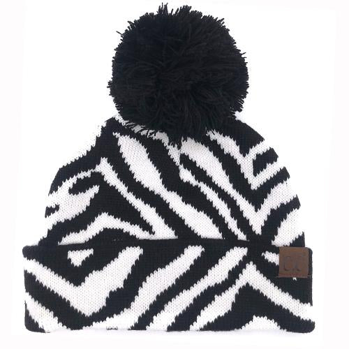 HAT-75 Zebra with Pom
