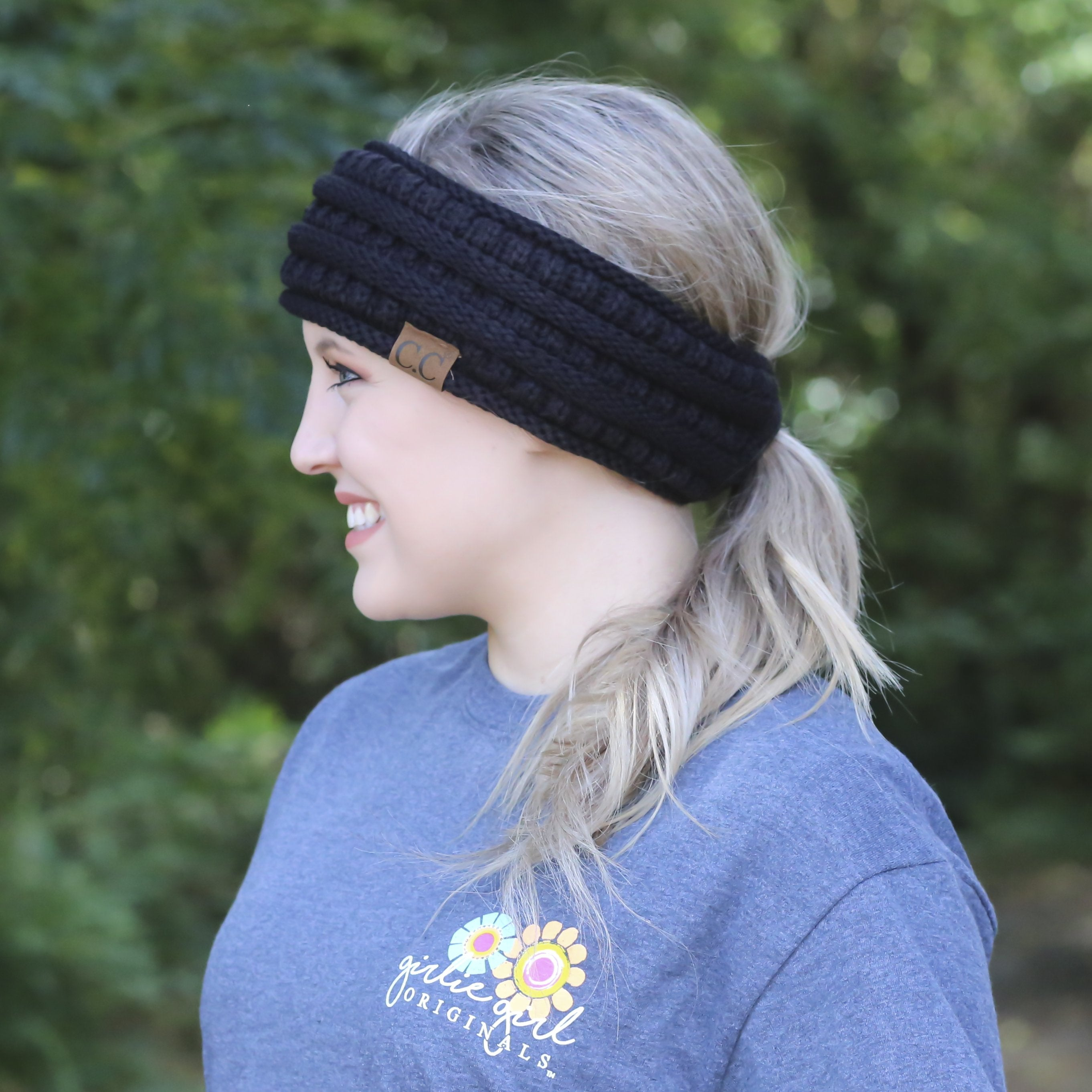 HB-21 Pony Headwrap Black