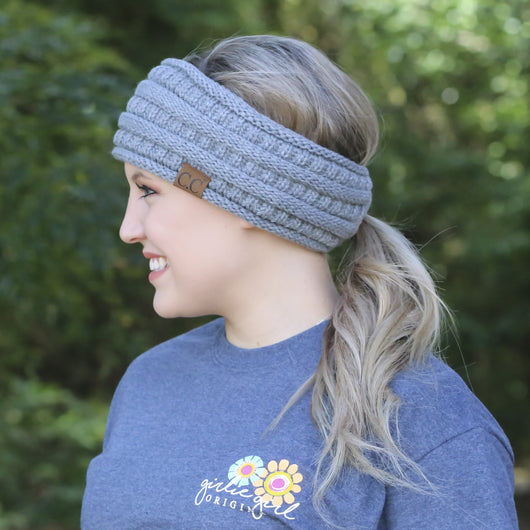 HB-21 Pony Headwrap Dark Melange Grey
