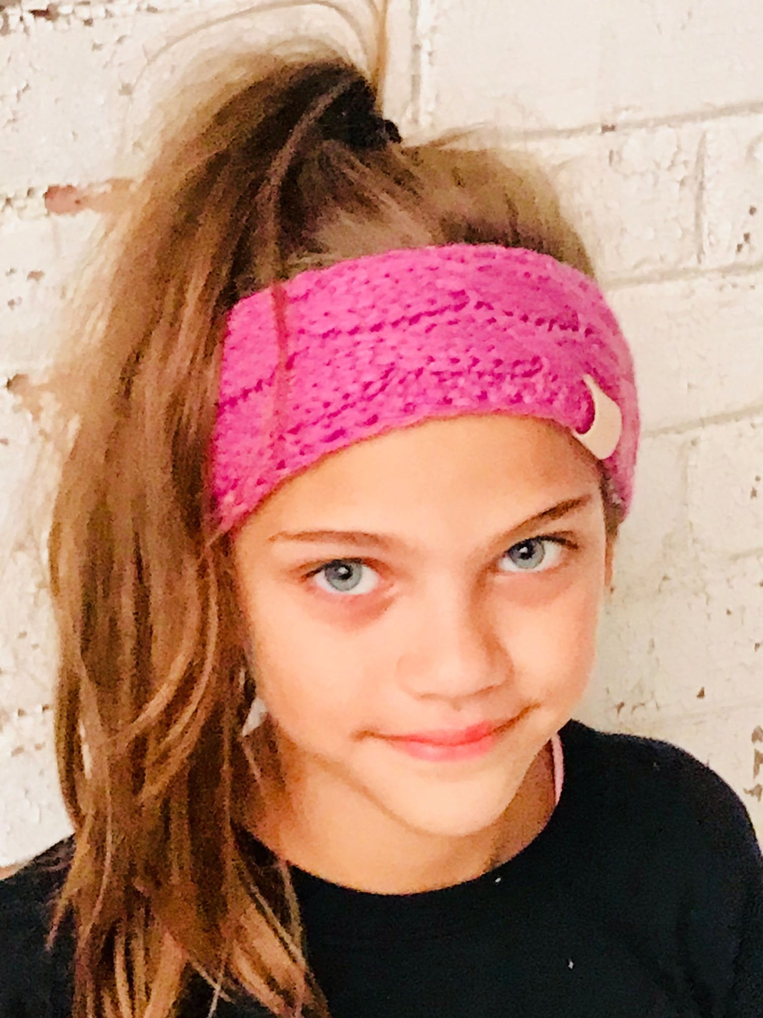 HW-20KIDS C.C HEADWRAP NEW CANDY PINK