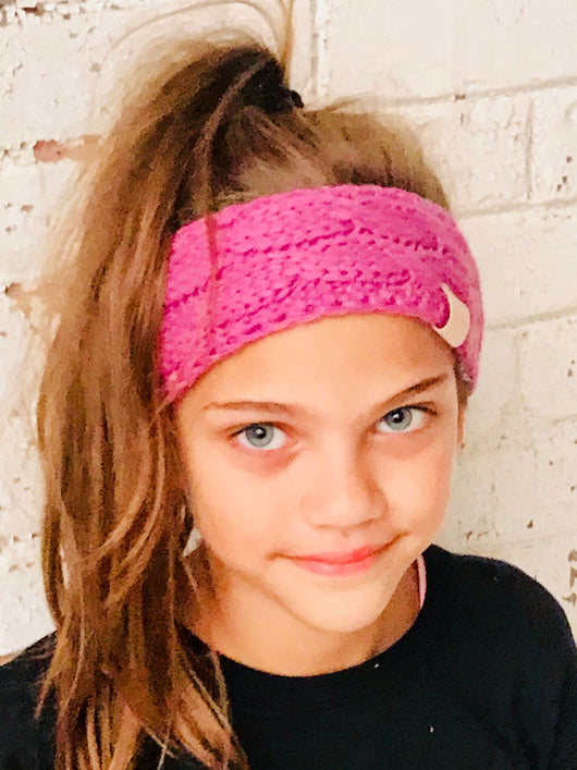 HW-20-KIDS C.C HEADWRAP NEW CANDY PINK