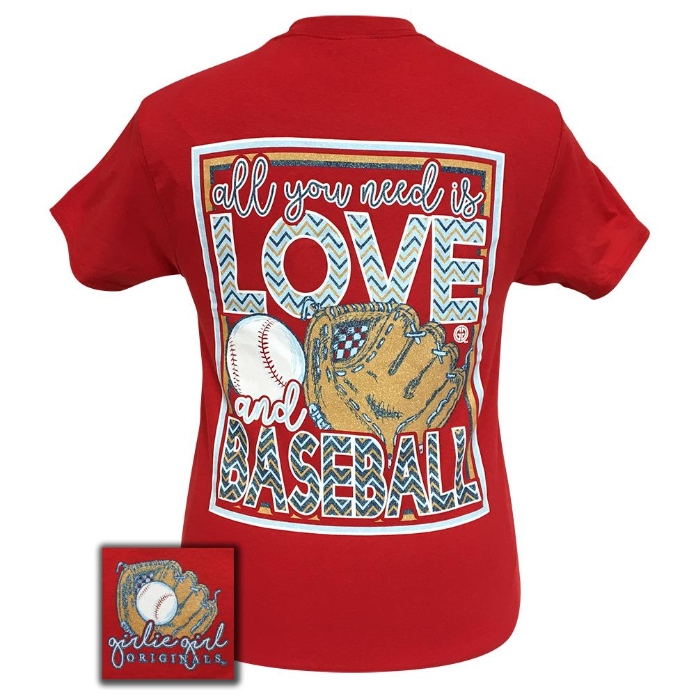 All You Need Is Baseball Red Short Sleeve