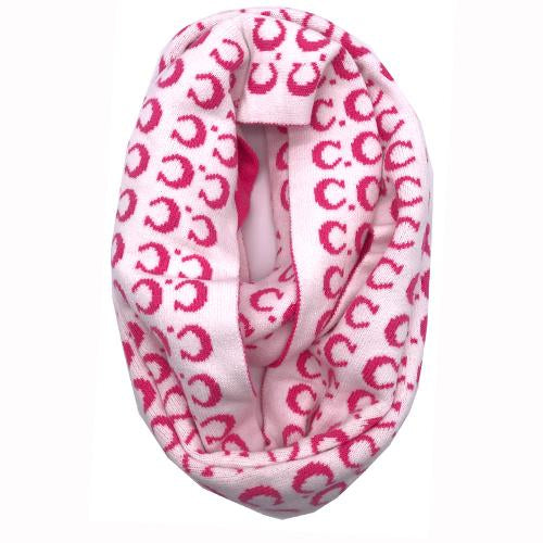 SF-14 IVORY/NEW CANDY PINK LOGO SCARF