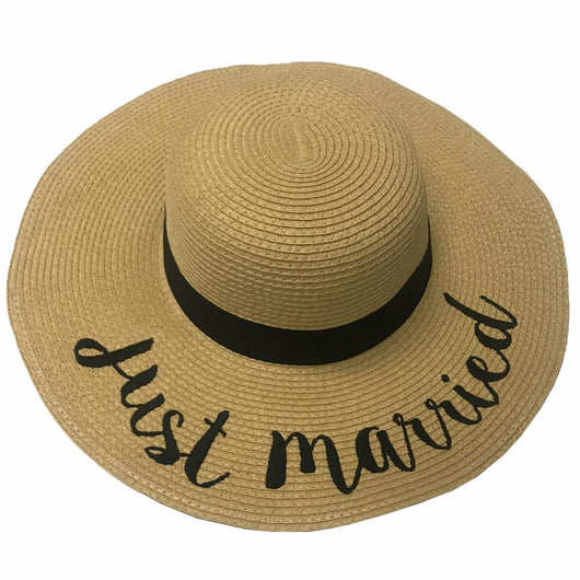 ST-2017 Just Married Beach Hats