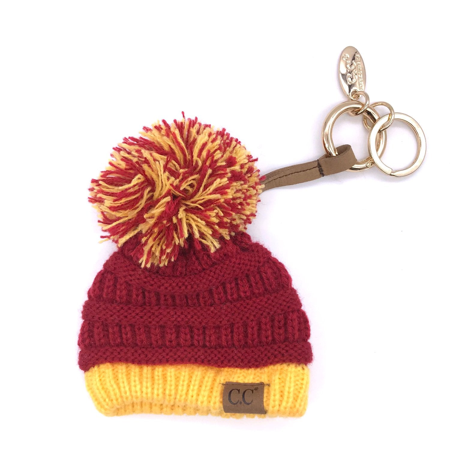 KB-56 Game Day Beanie Keychain Burgundy and Gold