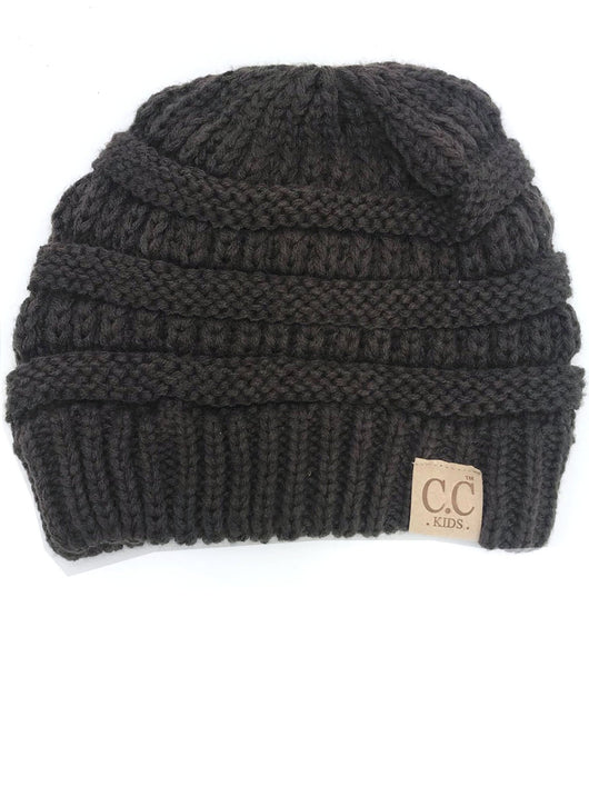 YJ-847 Youth Beanie Brown