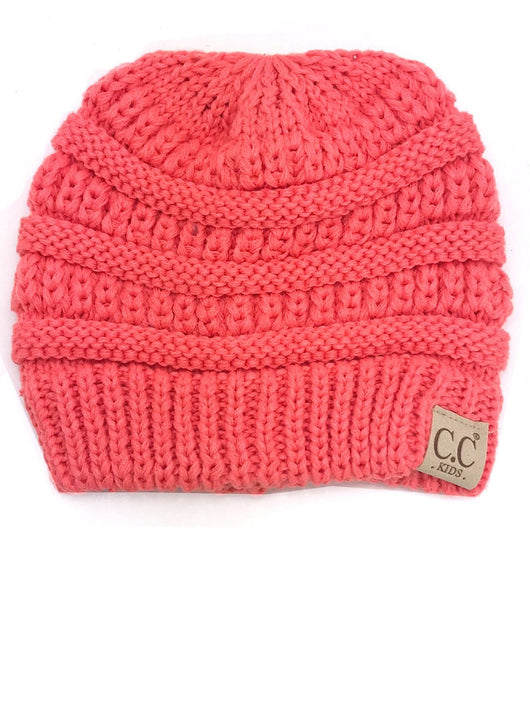 YJ-847 Youth Beanie Coral