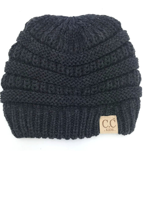 YJ-847 Youth Beanie Dark Melange Grey