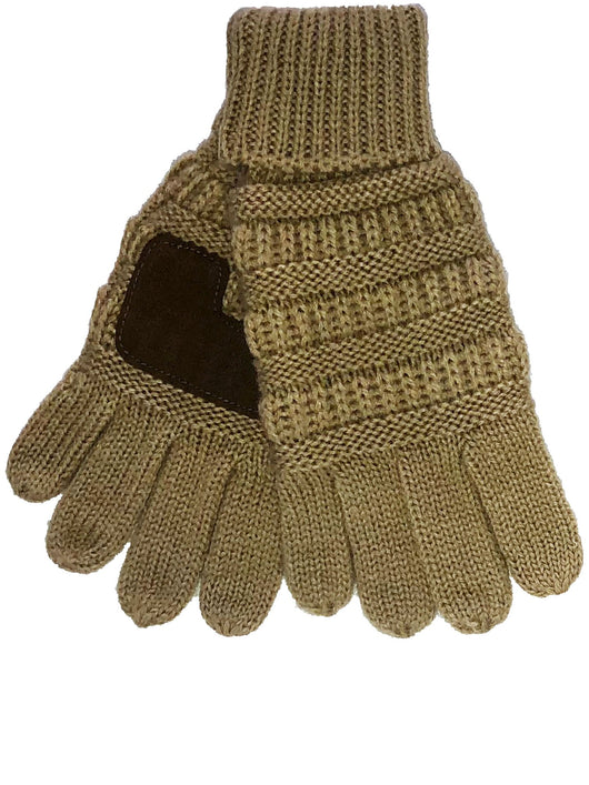 C.C G-20-KIDS Camel Gloves